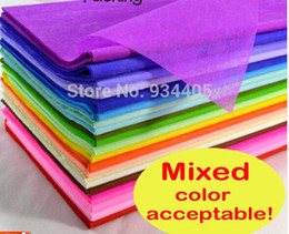 Wholesale Wholesales Tissue Paper wrapping Fiber Texture floral wraps cm flower wrapping paper pc available color