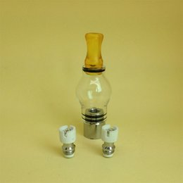 Quartz Dual Coils Glass Globe atomizer dry atomizer Vaporizer wax dry M6 wax vaporizer pen Quartz coils head Pyrex Ceramic glass Globe tank