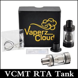 Billow rta à vendre-Vaperz Nuages ​​VCMT RTA Tank 25mm Diamètre Top Remplissage Bottom Contrôle de flux d'air Rebuidable Tank Sliver et Black vs Billow V2 tank