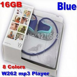 Wholesale 100 Real GB W262 sport Mp3 player Stereo Headset Mp3 player headset MP3 headphone walkman mp3 player in stock
