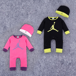 Wholesale Hotsale Baby boy clothing Sports rompers hat Basketball Bodysuit Buttons Ins Baby clothing Baby outfits Spring Autumn New