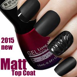 Wholesale-15ml Matt Matte Top Coat New Intense Seal Protect Dry Nail Top Coat 0.5oz salon for UV Gel Acrylic Nail soak off gel polish