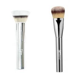 Brand Professional Makeup Brushes it cosmetics Heavenly Luxe Double Airbrush Foundation Brush make up blending powder contour brush kit.