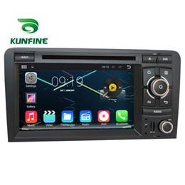 Consola gris en Línea-Estereofonia del coche del jugador de la navegación del coche DVD GPS del coche del androide 5.1.1 de la base 1024 * 600 del patio para Audi A3 03-13 S3 03-11 Radio 3GWifi Bluetooth