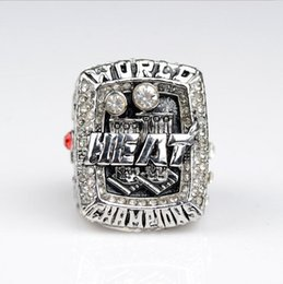 Wholesale New Fashion Silver Plated Vintage Custome Miami Basketball Championship Ring Replica for Men Jewelry Gifts Accessories Size