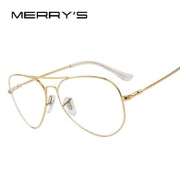 Or gros cadres lunettes à vendre-Mode Hommes Titanium Lunettes Cadres Hommes Marque Titanium Lunettes Or Frame de gros-MERRY With Glasses S'7802