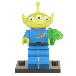 Wholesale Toy Story Alien Buzz Lightyear Woody Jessie ANDY Minifigures Model DIY Assemble Building Blocks Kids Toys Gift