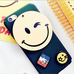 Lovely Smile Cell Phone Cases Green Smiling Face Phone Covers for iphone 7 7plus 6s 6plus 43