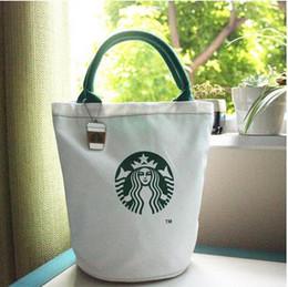 Wholesale Large Starbucks Canvas Tote Bag Handbag Barrel Shape Shoulder ECO styles Shopping Bag lunch Bag