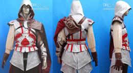 Wholesale Ubisoft TV fans game cosplay Assassin s Creed II Costume Cosplay Halloween Party Ezio Black Anime set
