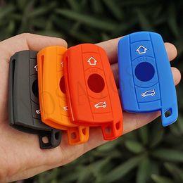 Wholesale Silicon Rubber Key fob skin case sticker protect cover holder for BMW Series remote E90 E91 E92 E60 X3 X5 keyless repair