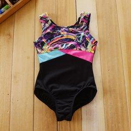 Wholesale 6pcs Y Danskin Sleeveless Leotard speed dri performance ballet costume color block Brand Ballet Clothes gymnastic leotard diamo