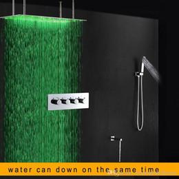 descuento grandes duchas led ducha ducha fija xmm con ducha de mano y latn bao