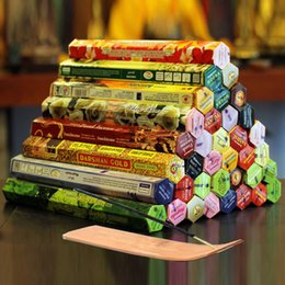 Wholesale stick game Authentic Indian Incense Premium Multiple Flavors Mixed Package Random Surprise Boxes Incense Stick With Incense Plate