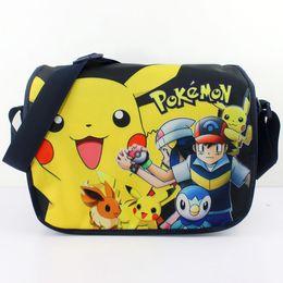 Wholesale 2016 Poke ball Messenger Bag for kids children Pikachu colors cartoon Cross body Shoulder bags pocket ball anime Free express