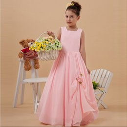 New Collection Floor Length A-line Little Princes Pink Dress Girl Handmade Flower Zip Back Professional Design Custom Made European Style