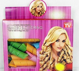 Wholesale DIY MAGIC LEVERAG Magic Hair Curler Roller WITH BOX Magic Circle Hair Styling Rollers Curlers Leverag perm set AAAA quality