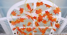 Wholesale Simulation of plant color printing maple leaf rattan cane supermarkets ceiling decoration Party Decor flower A46
