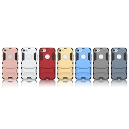 For iphone7 Silicone + PC Armor Case Cover Case Stand Armor Back Cover TPU Plastic Hybrid Phone Case