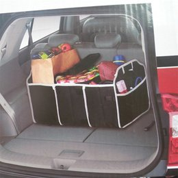 Wholesale Black Non woven Fabrics Car Organizer Boot Stuff Food Storage Bags Automobile Stowing Tidying Interior Accessories Storage Basket