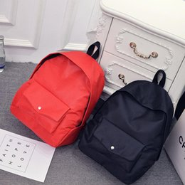 Double shoulders bag, solid color canvas bag, middle school student bag, Korean style tide, small fresh school wind backpack, men and women