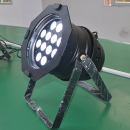 Free shipping 6 PAR Lights High quality 12x18W RGBAW UV 6 in 1 LED PAR 64 POLISH PAR Light with Flight case