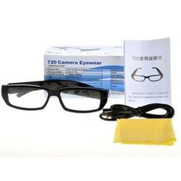 Descuento micro cámara espía oculto 16GB HD 720 * 480P espía ocultada cámara de los gafas de sol de la cámara del agujero de alfiler mini cámara de las gafas de sol DVR Eyewear Recoder video de la videocámara