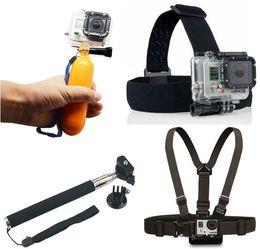 Wholesale Gopro Accessories set Float Bobber Handheld Stick gopro Chest Belt Head Strap For Gopro Hero4 hero3 hero SJ4000