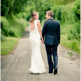 Ivory Chiffon Beach Plus Size Bohemian Wedding Dress Backless Scoop Neckline Flounced Bridal Dress Beach Wedding Dress For Brides 2016 New