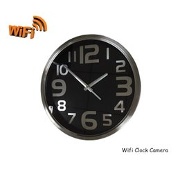 Wholesale Wireless Spy Hidden Camera Wall Clock HD720P Cycle Video Audio Recording Support Smartphones Computer Pad Remote Control