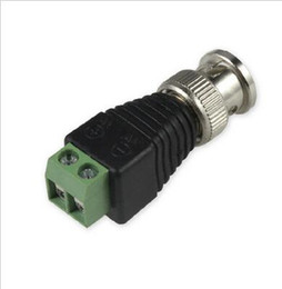 Wholesale Coaxial Coax CAT5 BNC Male Connector for CCTV Camera Surveillance Accessories