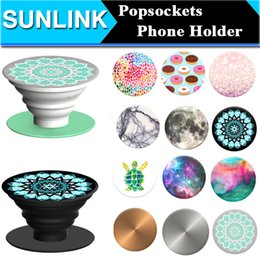 Wholesale Multifunction Universal PopSockets Expanding Stand and Grip for Smartphones Tablets Chakra Marble Nebula Mandala Flexible Phone Holder Mount