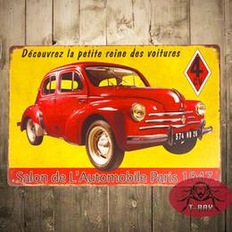 Wholesale France CV salon de automobile Car Metal Tin Signs Garage Wall Decor Restaurant Bar iron Paintings