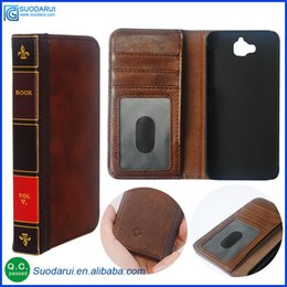 Wholesale Retro Bible Vintage Flip Leather Phone Cover Case For Huawei Y6 Pro Business Book Wallet Pouch With H Nano coated Films