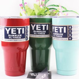 Wholesale NewNew Arrival Pink Yeti Cooler Cups Stainless Steel Beer Mug Tumbler Cup Double Wall Bilayer Vacuum Insulated Size oz