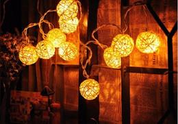 4M 20 LED Rattan Ball Lantern Sepak takraw String Fairy Light Garlands for New Year Christmas Holiday Party Decoration110V-240V