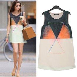 Wholesale NEW Summer fashion Large size dress casual chiffon dress personality sleeveless vest dress