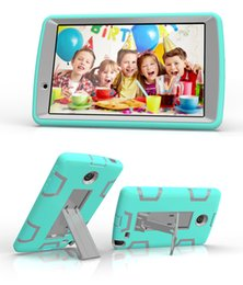 Wholesale 1PCS Shockproof Kids Dual Colors Hybrid Heavy Duty Robot Rubber Cases Shell With Stand for LG G Pad2 V495 V496 V498