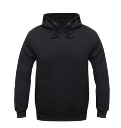 Wholesale-Mens Pure Solid Black Color Hoodie Men Fall Autumn Winter Clothing Male Boys Top Shirt Hoodies And Sweatshirts Mens Clothing