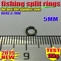 Fishing Split rings 5 MM the best 304 stainless steel 1000 PCS  lot 2016 new arrial
