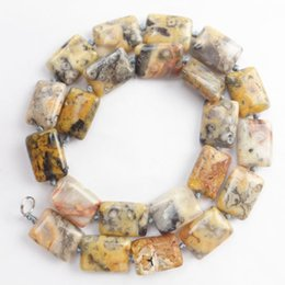 1 strand 18x13x6mm Yellow Crazy Lace Agate Oblong loose bead 15.5 inch