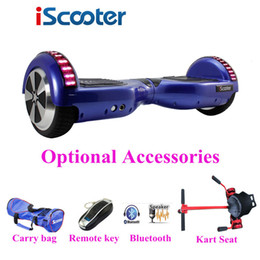 Wholesale iScooter hover board Electric scooter hoverboard Smart two wheel Self balance scooter Skateboard drift with bluetooth LED