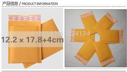 Compra Online Burbuja de papel kraft-100PCS 12.2cmx17.8 + 4cm color amarillo papel Kraft Air burbuja envoltorio envoltorios wthout impresión