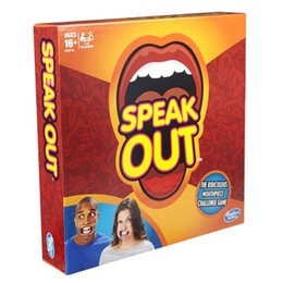 Wholesale 1pcs New Speak Out Game Amusement Toys Party Board Game Novelty Games Ridiculous Mouthpiece Challenge Game Friends and Family KTV Games