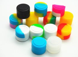 Stock in USA! 200 X Assorted Color Non-stick Silicone Wax Container Silicon Wax Jar 2ml Small Silicone Round Container