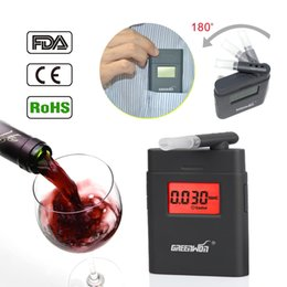 Wholesale Prefessional Police Portable Breath Alcohol Analyzer Digital Breathalyzer Tester Body Alcoholicity Meter Alcohol Detector