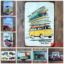 Wholesale endless summer route auto classic Coffee Shop Bar Restaurant Wall Art decoration Bar Metal Paintings x30cm tin sign