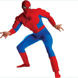Wholesale Spiderman cosplay adult costumes Halloween complete bodysuit set costumes cosplay custom made for Halloween Christmas party