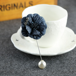 Korea corsage brooch original fabric flowers fresh long coat jacket pin brooch unisex floral flower retro fashion accessories