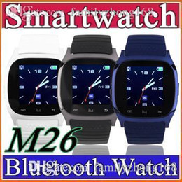Wholesale Smart Bluetooth Watch Smartwatch M26 with LED Display Barometer Alitmeter Music Player Pedometer for Android IOS Mobile Phone G BS